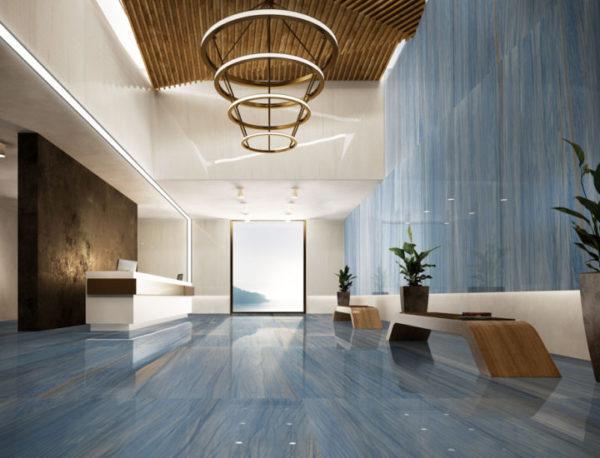 Azul Macauba Marble. 120x120mm