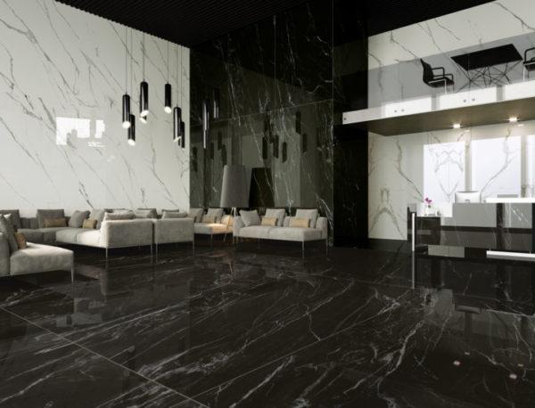 Nero Belvedere Marble by Ava Ceramica
